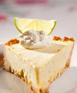 Delectable baked deserts, key lime pie at Squam Lake Inn