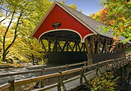Covered Bridge in New Hampshire - Fall Foliage