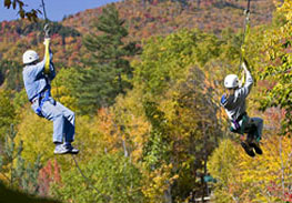Zip Lining in New Hampshire - Fall Foliage