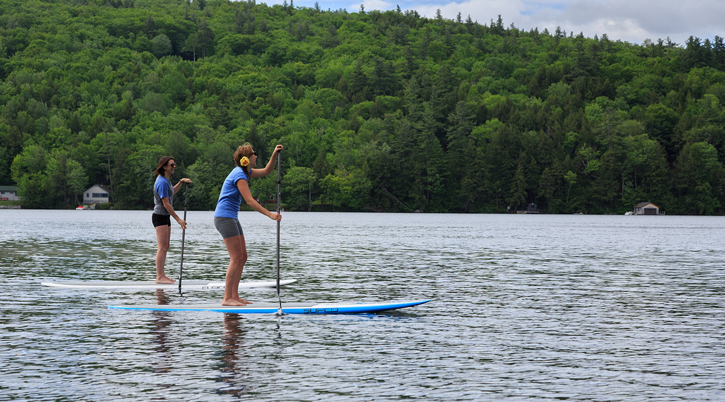 Stand up paddle boarding in the New Hampshire Lakes Region