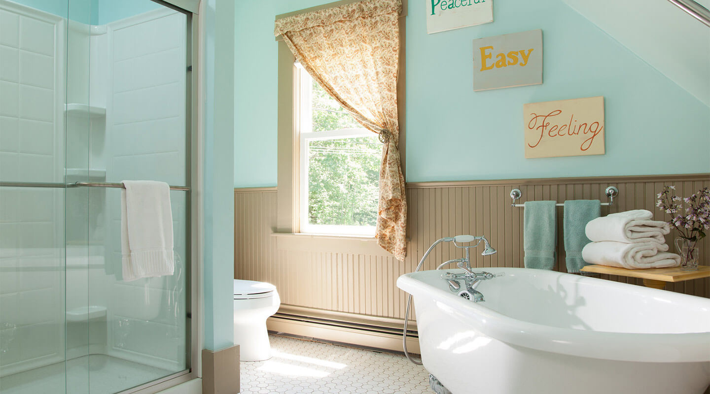Spacious bathrooms at our New Hampshire bed and breakfast