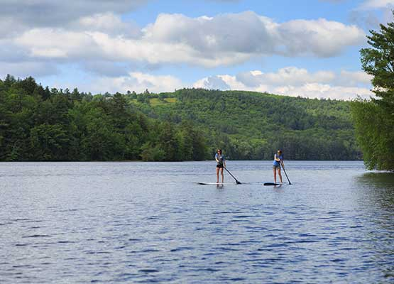 Stand Up Paddle Boating in the New Hampshire Lakes Region