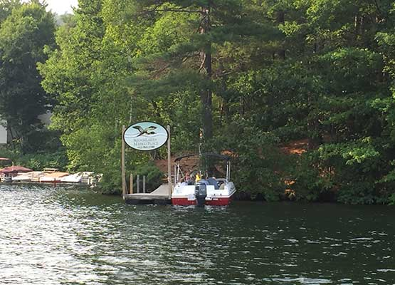 Paddle boating on Squam Lake