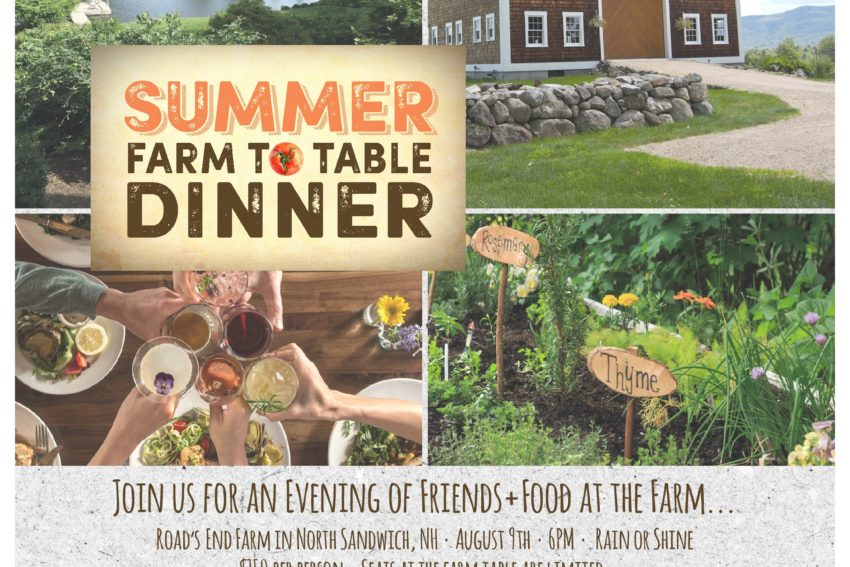New Hampshire Farm to Table DInner