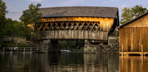 Covered bridge over Squam River in Ashland, New Hampshire