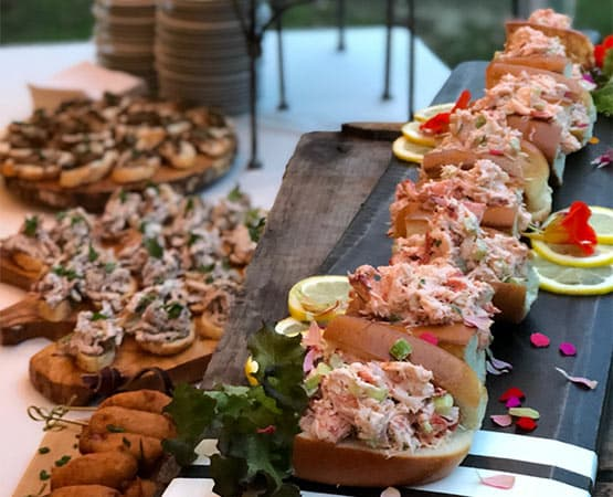 Lobster Roll Buffet at our New Hampshire wedding venue