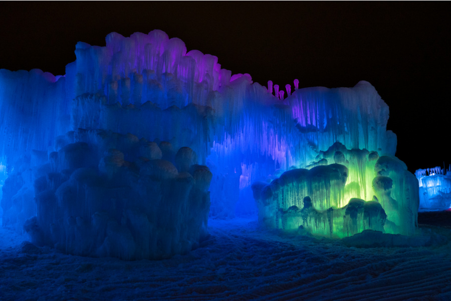 Ice Castles in New Hampshire in Winter