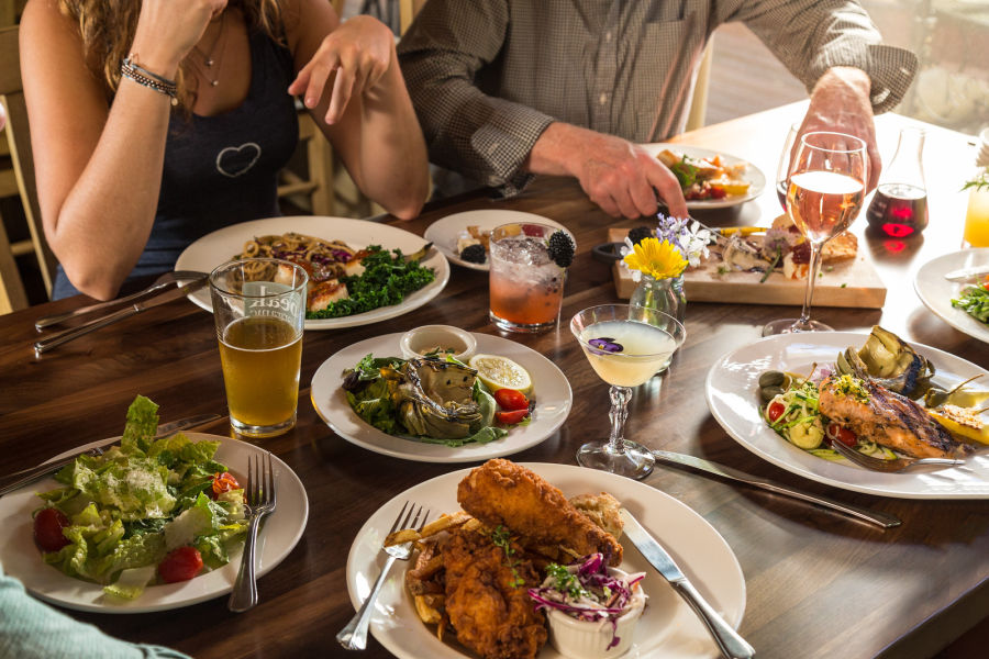 New Hampshire Restaurant Holderness Squam Lake - People Dining